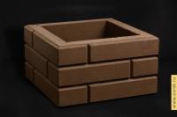 "Блок столба коричневый ""Под кирпич"" 350*350*200"