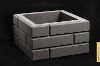 """Блок столба серый """"Под кирпич"""" 350*350*200"""
