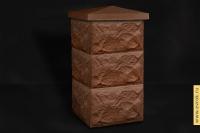 """Блок столба коричневый """"Крупный камень"""" 350*350*200"""